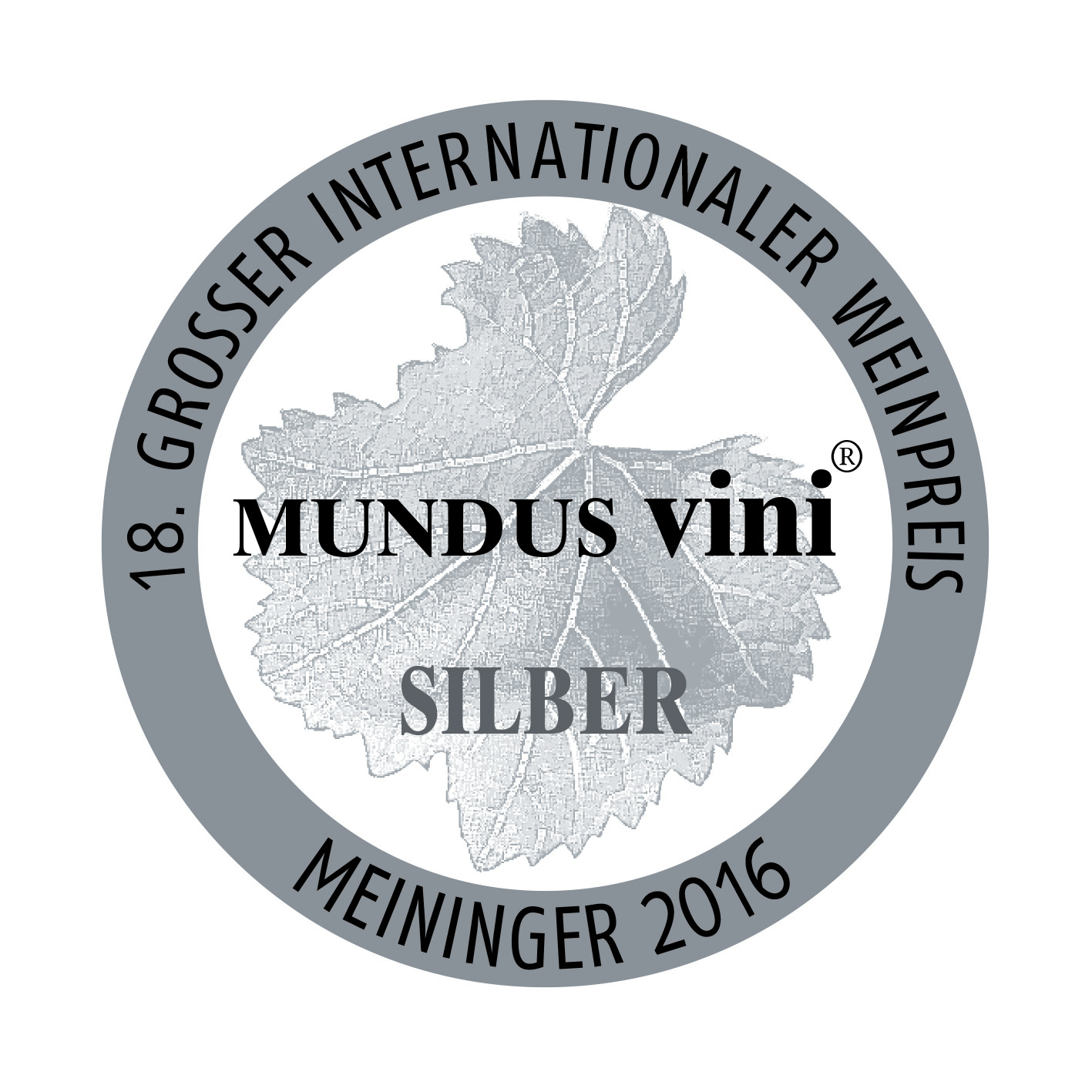 march 2016: MUNDUS vini silver medal for 2015