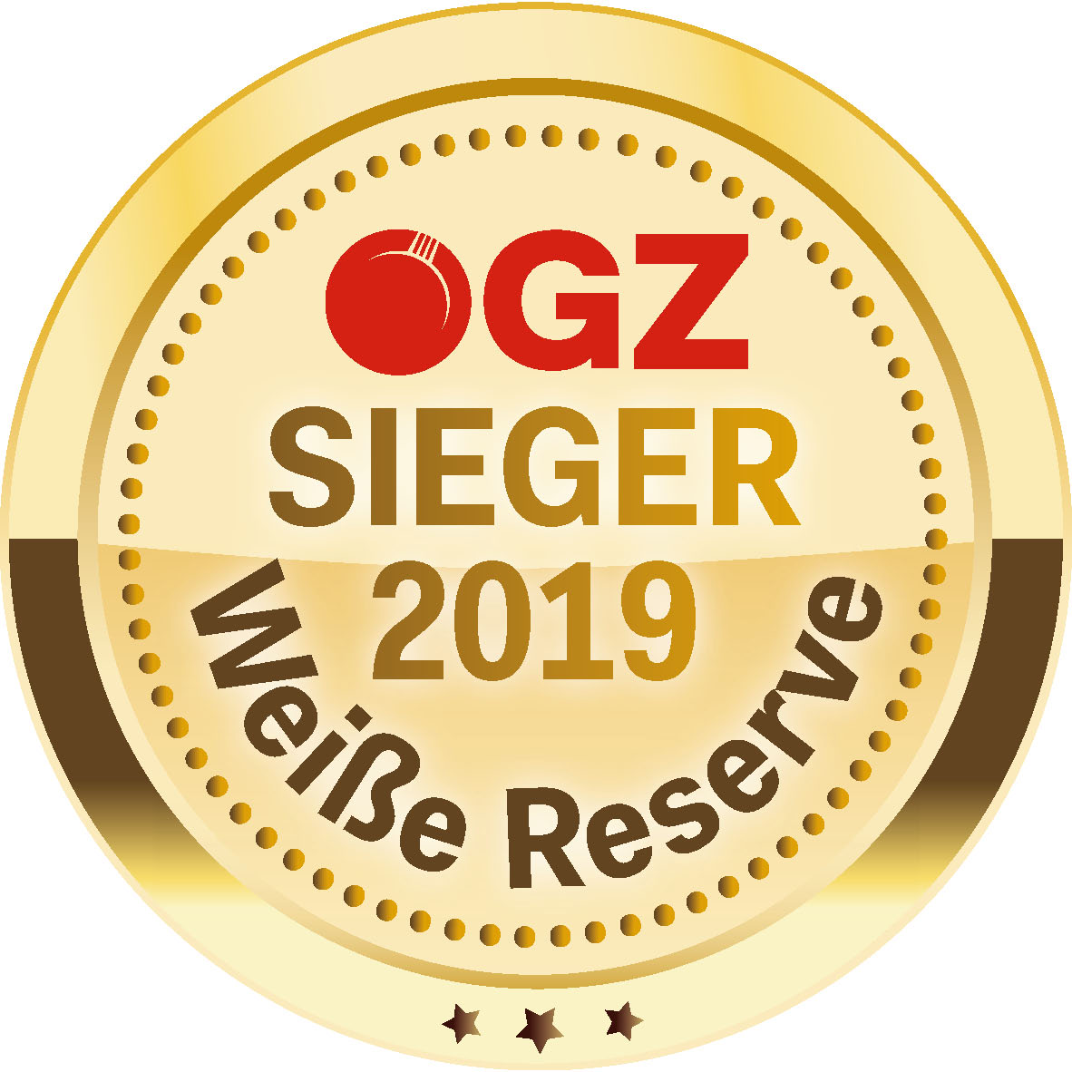 "October 2019: champion in the tasting ""white reserves"" by ÖGZ magazine: vintage 2018"