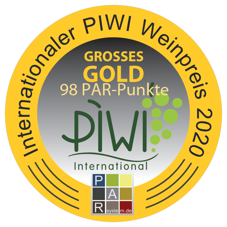 """November 2020: 98 PAR points and """"Grand Gold"""" for vintage 2019 at the int. Piwi Wine tasting"""