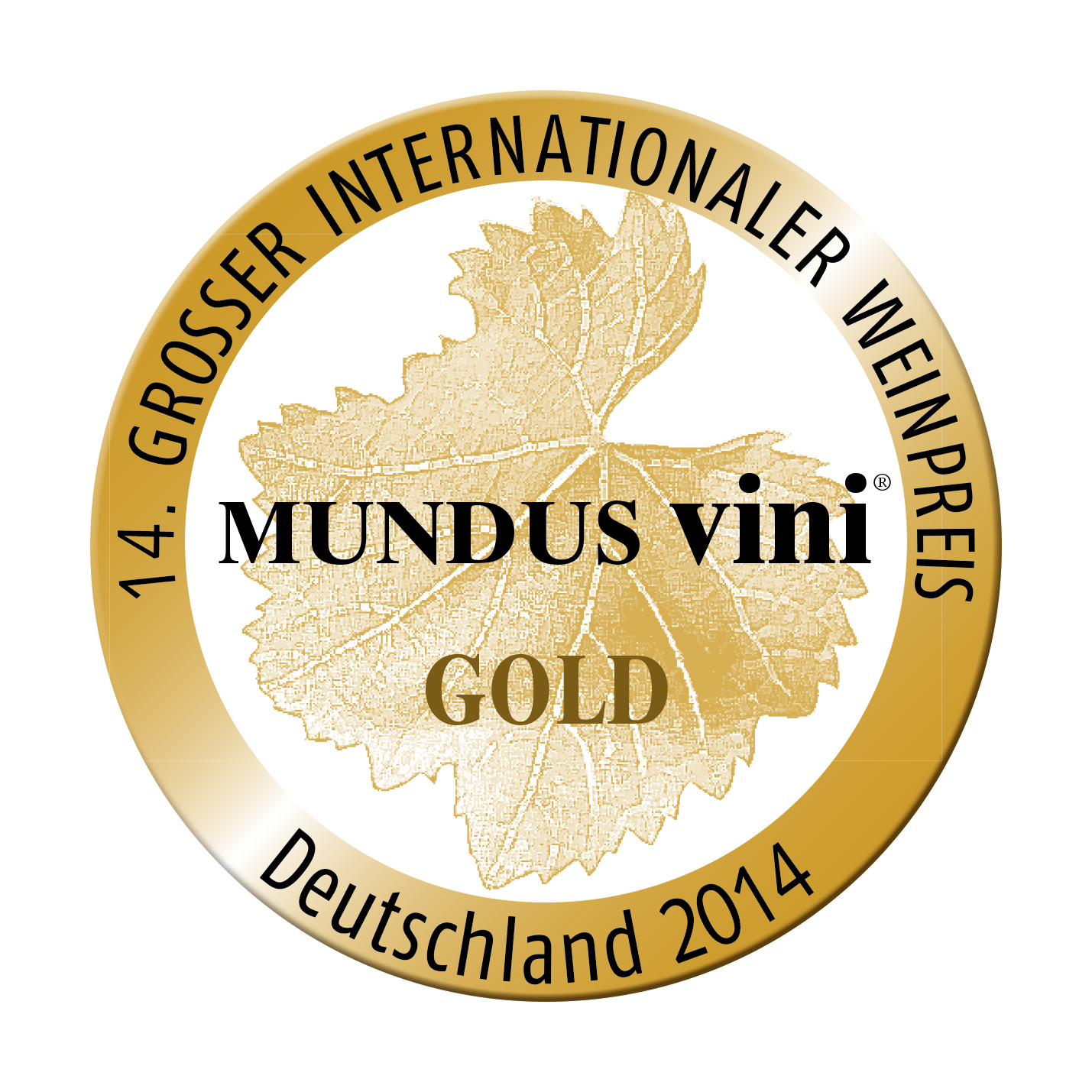 September 2014: MUNDUS vini gold medal for vintage 2013