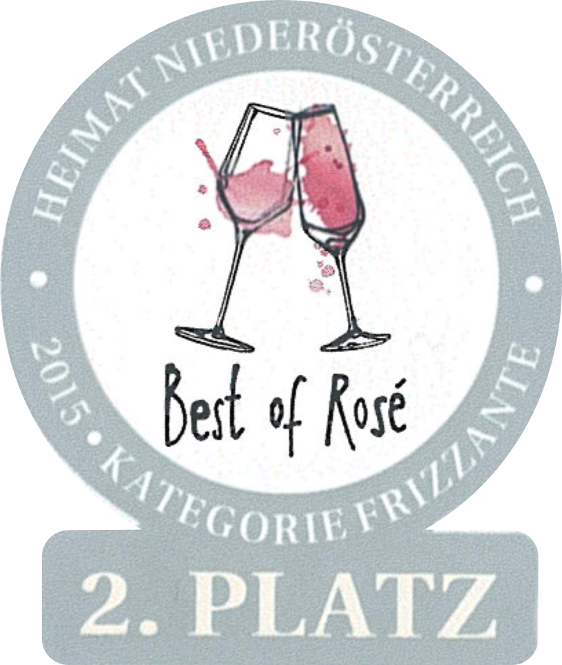 "June 2015: 2nd place ""Best of Rosé in Lower Austria"" for vintage 2014"