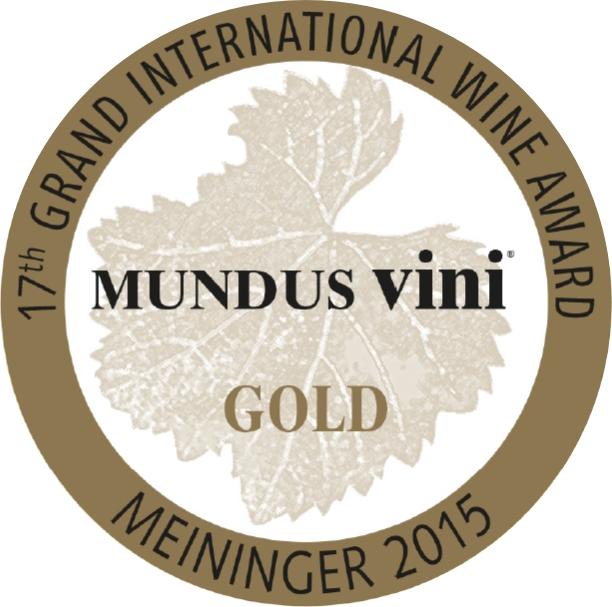 September 2015: MUNDUS vini Goldmedaille für Jahrgang 2014