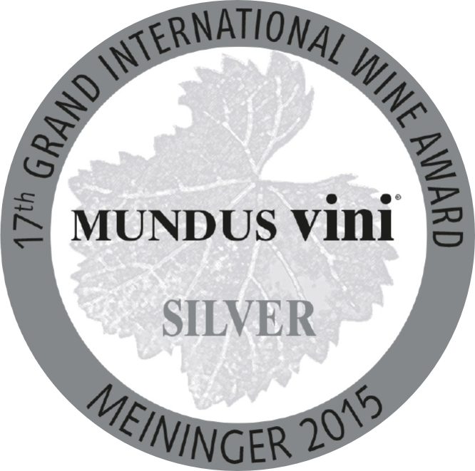 September 2015: MUNDUS vini silver medal for vintage 2014