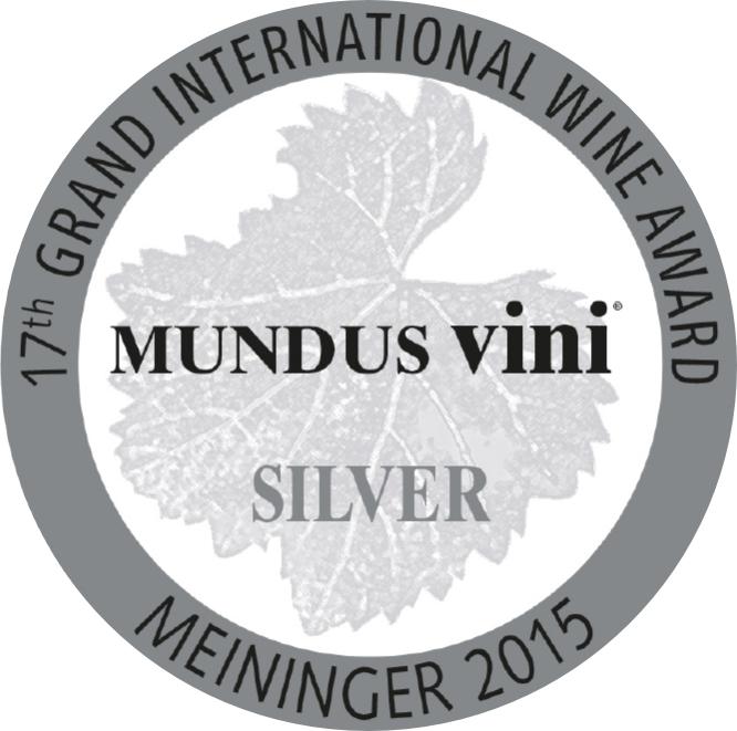 September 2015: MUNDUS vini Silbermedaille für Jahrgang 2014