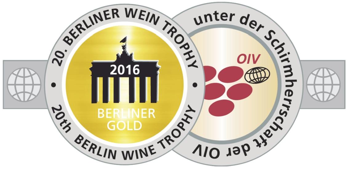 August 2016: Berliner Gold bei der Berliner Wein Trophy 2016 für Jahrgang 2013