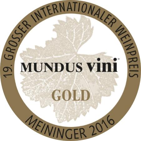 """September 2016: MUNDUS vini Goldmedaille und """"Best of Show - Austria"""" für Jahrgang 2015"""