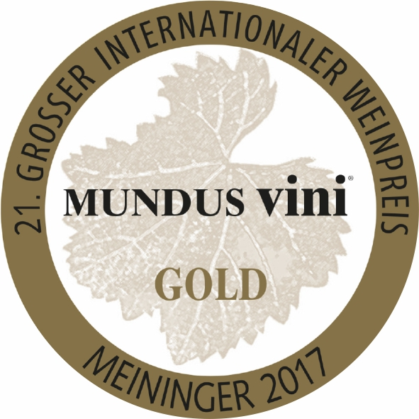 September 2017: gold medal at the MUNDUS vini summer tasting for vintage 2016