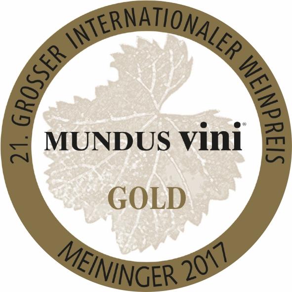 September 2017: gold medal at the MUNDUS vini summer tasting for vintage 2016