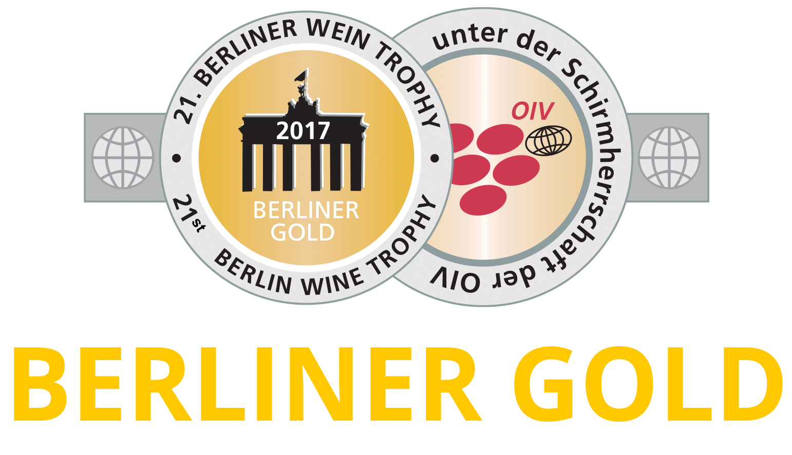 "August 2017: ""Berliner Gold"" bei der Berliner Wein Trophy für Jahrgang 2016"