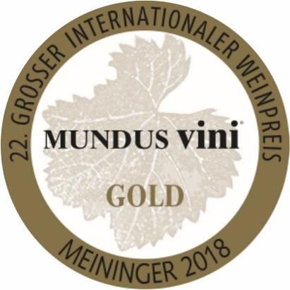 Februar 2018: Mundus vini Goldmedaille für Jahrgang 2017