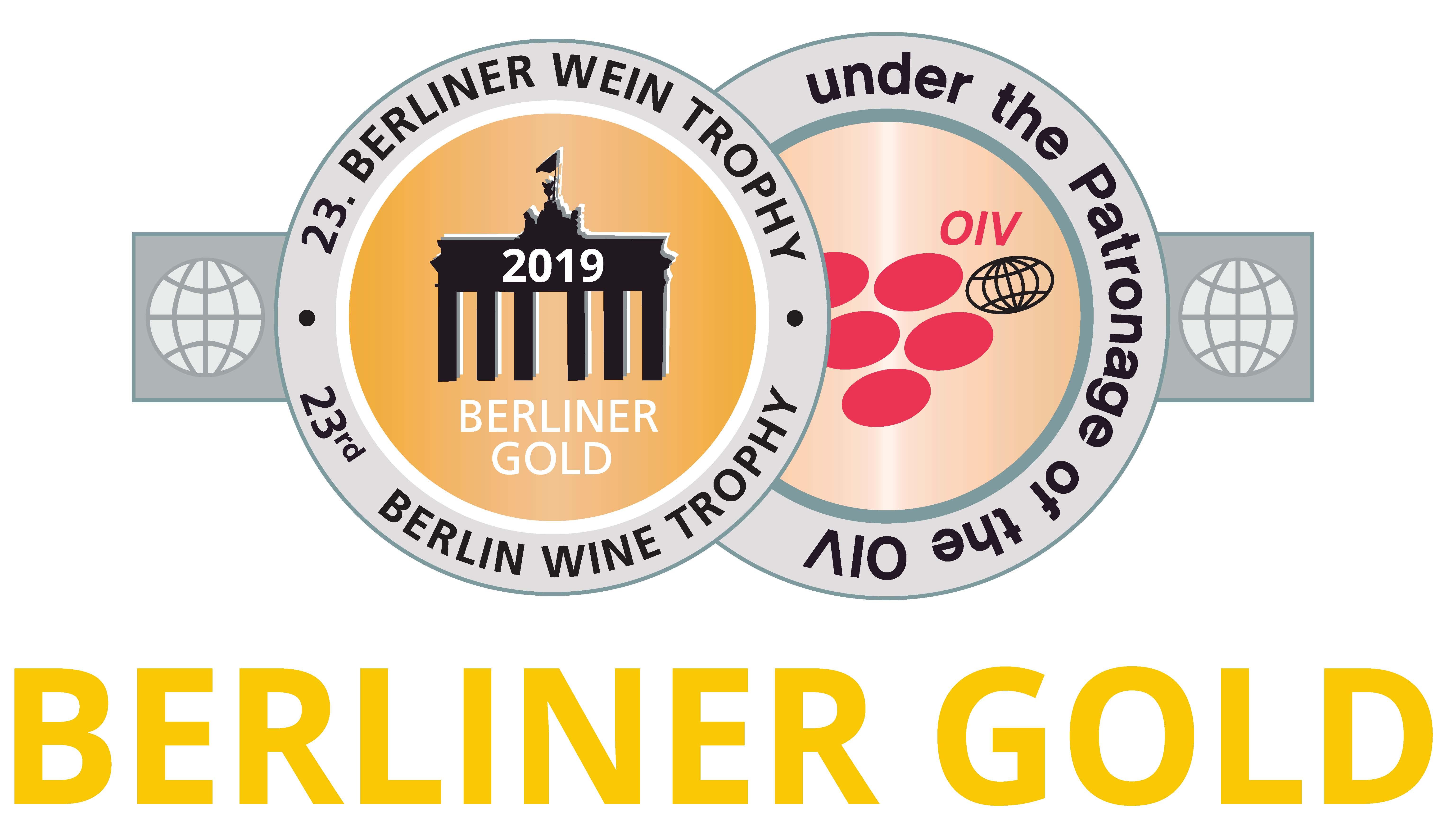 März 2019: Berliner Gold bei der Berliner Wine Trophy für Jahrgang 2016