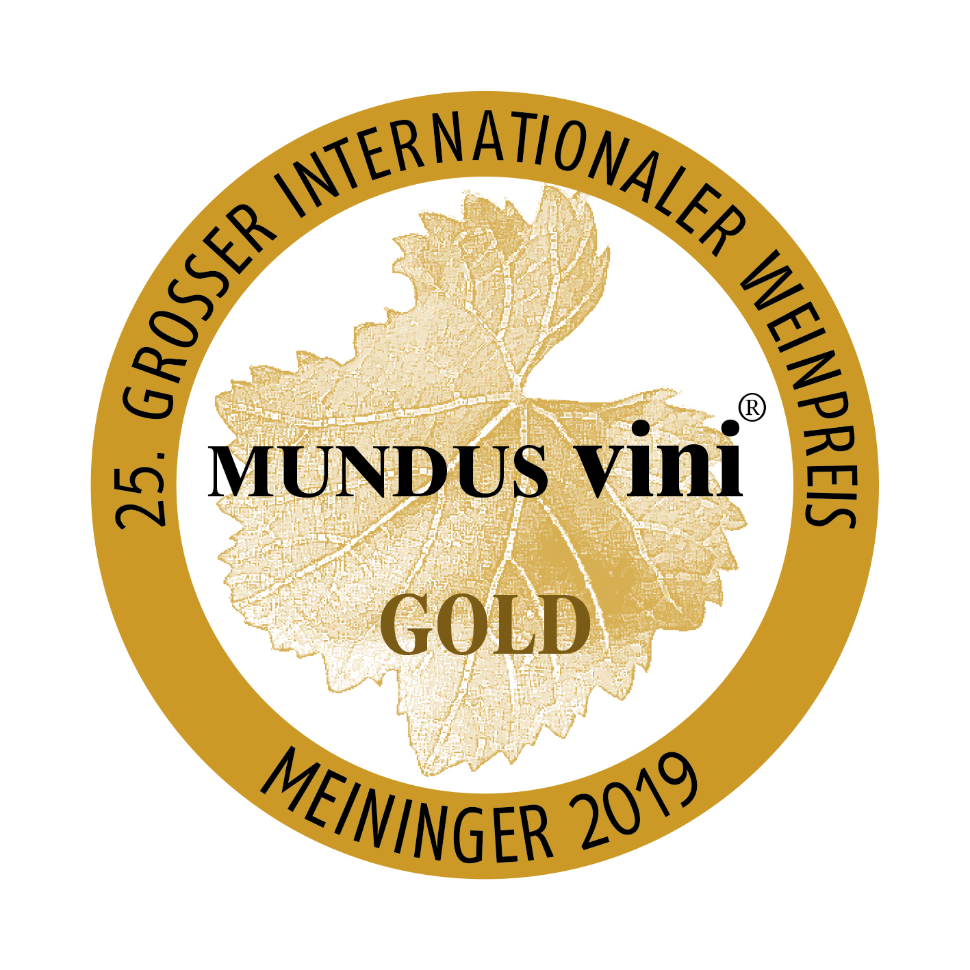 September 2019: Mundus Vini gold medal for vintage 2018