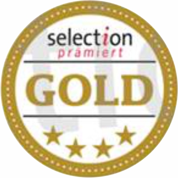 "June 2019: 4 stars & GOLD by the german magazine ""Selection"""