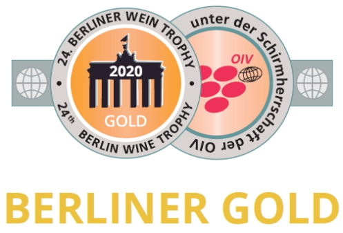 September 2020: GOLD at the Berliner Wine Trophy for vintage 2019
