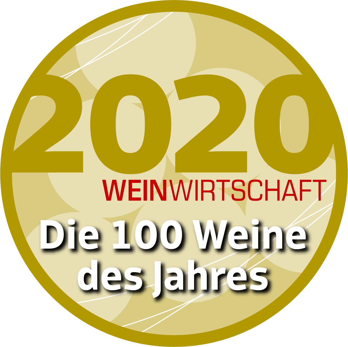 """Jänner 2021: 1. Platz """"Weißwein International (LEH) in der WEINWIRTSCHAFT für Jahrgang 2019"""