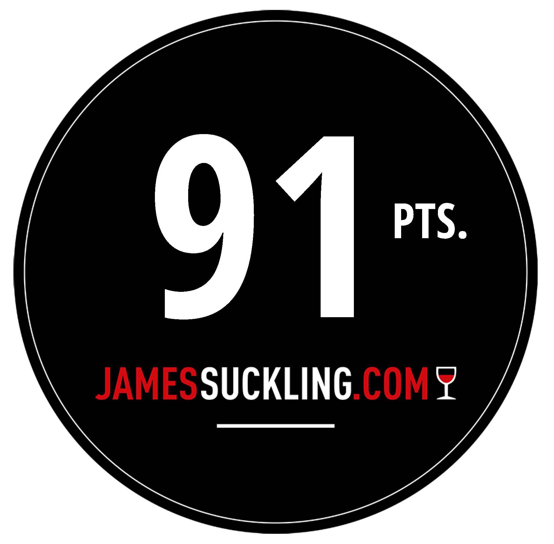 Oktober 2017: 91 Punkte James Suckling für Jahrgang 2016
