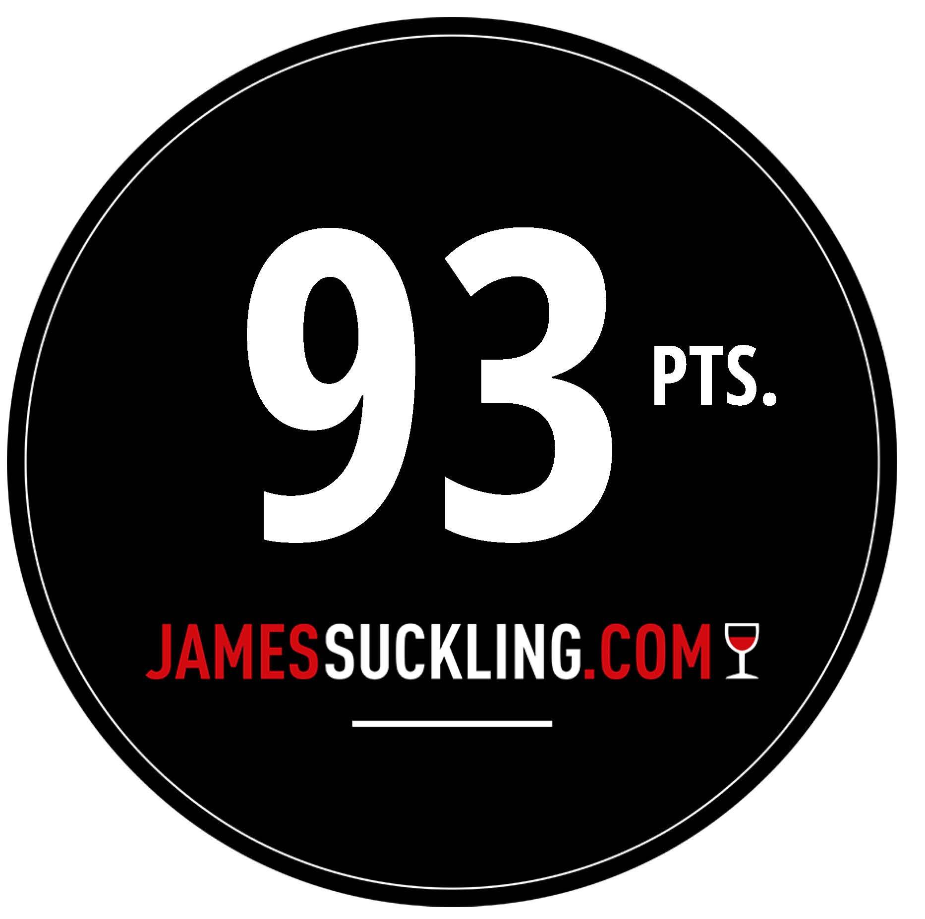 Oktober 2017: 93 Punkte James Suckling für Jahrgang 2016